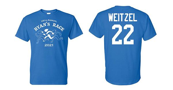 RYANS RACE 2021 shirt blue